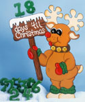 Countdown Rudolph Woodcraft Pattern