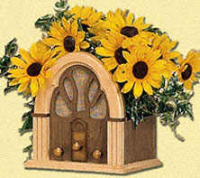 Radio Planter Woodcraft Pattern