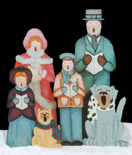 Caroling Victorian Family Wood Pattern