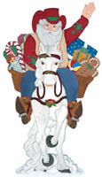 Small Cowboy Santa Woodcraft Pattern