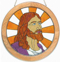 Painted Glass Jesus Project