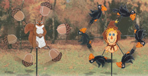 Fall Whirligigs Woodworking Project Plan