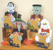 Halloween Candy Boxes Wood Pattern