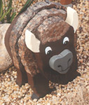 Layered Buffalo Woodcraft Pattern
