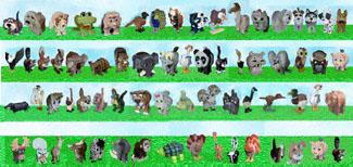 Small Layered Animals Pattern Set
