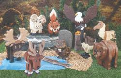 Wild Animals Layered Animal Pattern Set