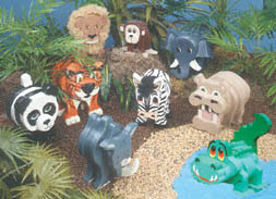 Jungle Animals Layered Animal Pattern Set