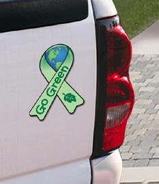 Go Green Car Magnet