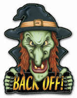 Back-Off Witch Magnet