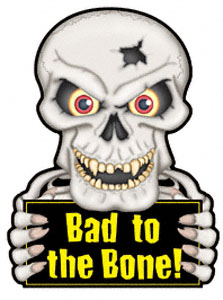 Bad Skull Magnet