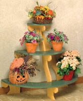 Three Tiered Plant Stand Wood Pattern