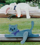 Cat & Rabbit Rail Pets Pattern
