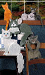 Playful Cats Woodcraft Pattern