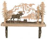 Moose Shelf Scroll Saw Pattern