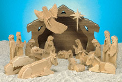 3D Nativity With Stable Scroll Saw Pattern