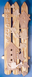 Birdhouse Welcome Plaque Pattern