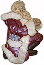 Praying Santa Intarsia Pattern