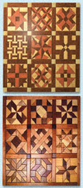 Geo-Shape Wood Quilt Designs Set