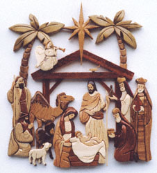 Intarsia Nativity Scroll Saw Pattern