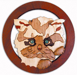 Kitty Scroll Saw Pattern
