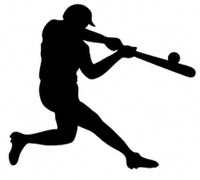 Baseball Batter Shadow Wood Pattern