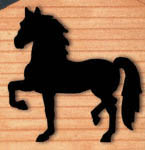 Strutting Horse Shadow Woodcraft Pattern