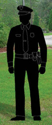 Policeman Shadow Woodcraft Pattern