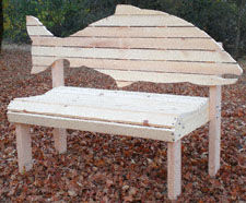 Salmon Fish Bench Woodworking Pattern