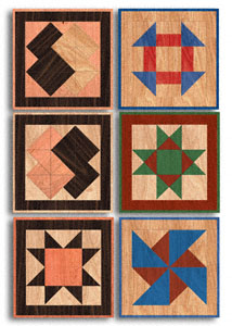 Scroll Saw Wall Art - Small Quilt Squares Wood Pattern