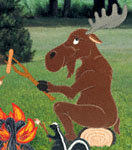 Campfire Moose Woodcrafting Plan