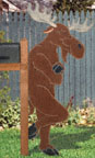 Leaning Moose Woodcrafting Pattern