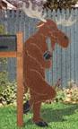 Leaning Moose Woodcrafting Pattern