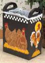 Rooster & Chicken Trash Bin Plans