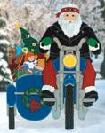 Motorcyclin' Santa Woodcraft Pattern