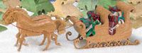 Horse Drawn Victorian Sleigh Scroll Saw Pattern