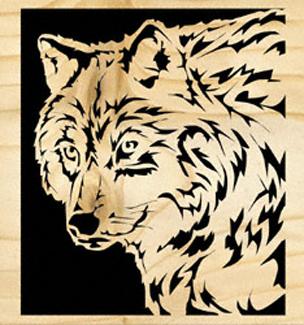 Wolf Scrolled Art Project Pattern