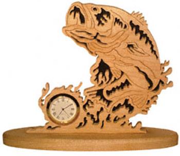 Largemouth Bass Mini-Clock Project Pattern