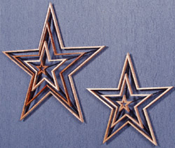 3D Shooting Stars Project Pattern