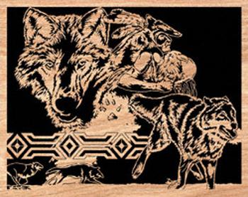 Arapaho Moon Scrolled Art Project Pattern