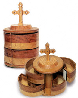 3D Round Cross-Topped Box Project Pattern