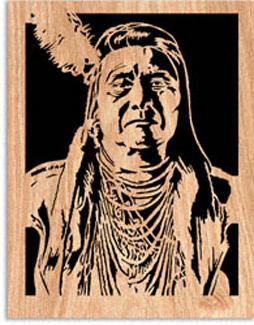 Chief Joseph Scrolled Art Pattern