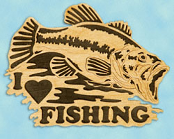 Large Mouth Bass Fishing Sign Project Pattern