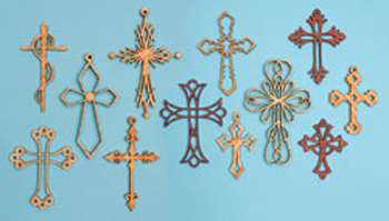Ornamental Wall Cross Project Pattern