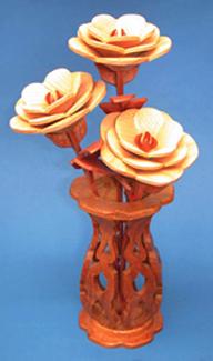 Mini Roses & Vase Compound Cut Project Patterns