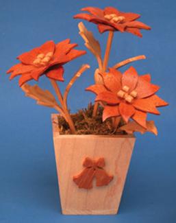 Mini Poinsettia & Vase Compound Cut Project Patterns