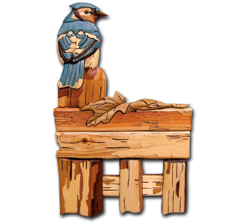 Fence Post Blue Jay Project Pattern