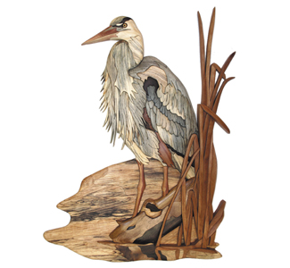 Blue Heron Intarsia Project Pattern