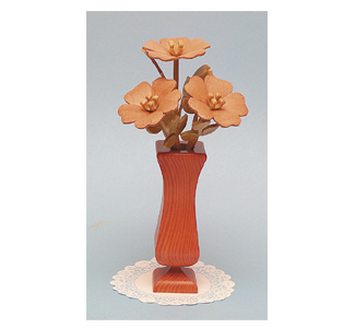 Compound Cut Wild Roses & Vase Project Pattern