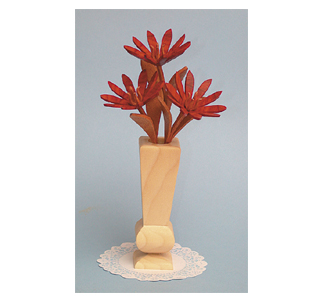 Compound Cut Bitterroot Flowers & Vase Project Pattern