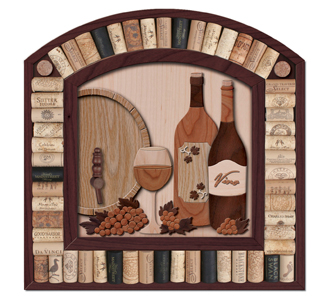 Wine Cork Wall Display Pattern